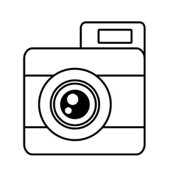 Photo camera picture vacation travel line vector
