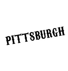 pittsburgh rubber stamp vector image