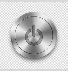 realistic metallic silver steel chrome vector image