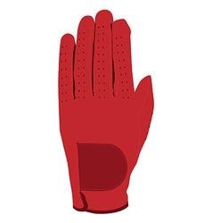 Red glove vector