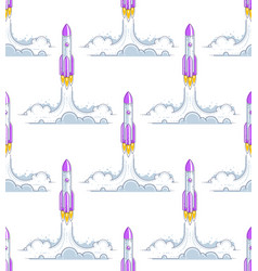 rockets launches seamless background science and vector image