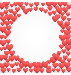 Romantic Hearts Decor vector