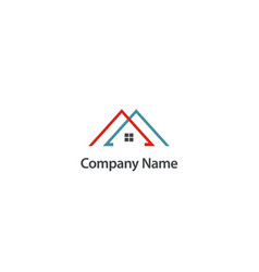Roof house construction company logo vector