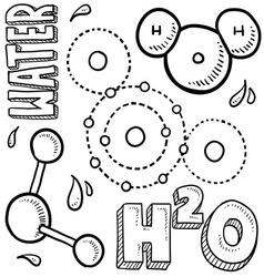 Science doodle vector