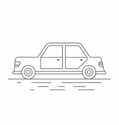 sedan car line icon vector image