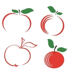 Seyt of Apple Icons vector image