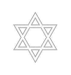 Shield magen david star symbol of israel vector