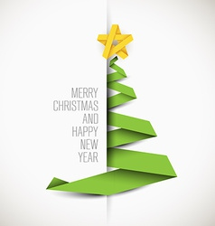 Simple card with christmas tree vector