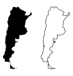 Simple only sharp corners map argentina vector