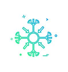 snowflakes christmas icon design vector image