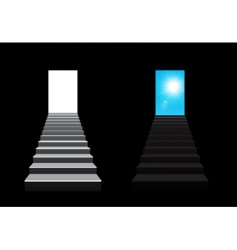 staircase illustration vector image