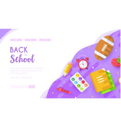 stationery on desk back to school concept vector image