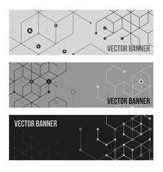technology banner collection vector image