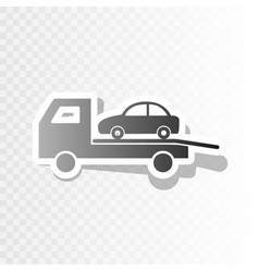 tow car evacuation sign new year blackish vector image