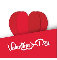Valentine day heart on top image vector