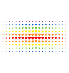 valentine heart spectrum halftone effect vector image