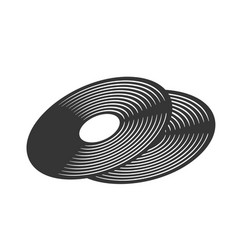 vinyl lp record retro icon vector image