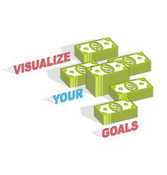 Visualize your goals business motivation poster vector