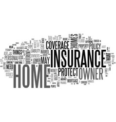what is home owners insurance text word cloud vector image
