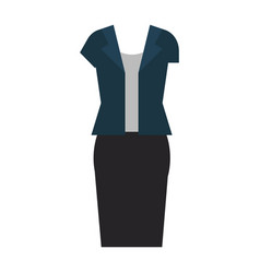 women casual clothes icon vector image