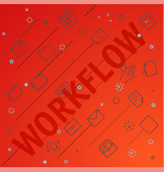 workflow concept different thin line icons vector image