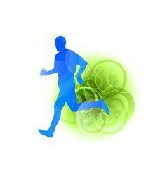 blue runner vector image vector image