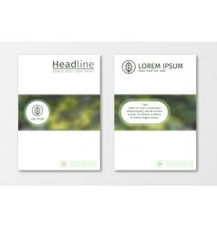 Green annual report business brochure flyer design vector image
