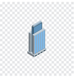 isolated residential isometric urban vector image vector image