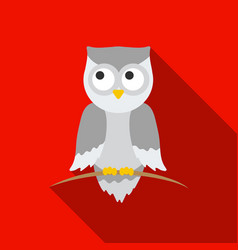 owl icon flat singe animal icon from the big vector image
