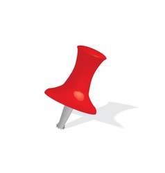 red push pin vector image vector image
