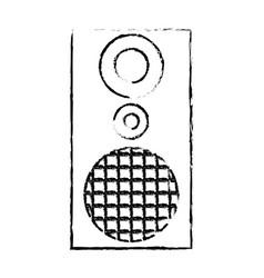 audio speaker the musical equipment volume vector image