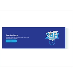 banner fast delivery vector image
