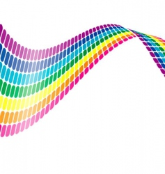 color wave vector image vector image
