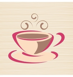 Cup of coffee with smoke vector image vector image