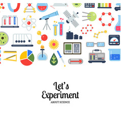 flat style science icons vector image vector image