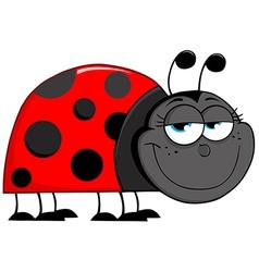 Ladybug Cartoon Character vector image vector image