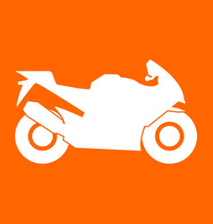 motorcycle white icon vector image