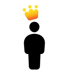VIP user icon vector image