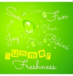 Background with a drop of dew vector image vector image
