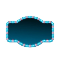 Blank 3d retro light banner with shining lights vector