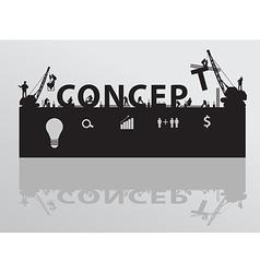 Construction site crane building concept text vector image