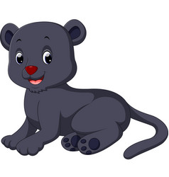 cute black panther cartoon vector image