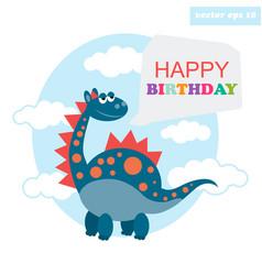 happy birthday dragon vector image vector image