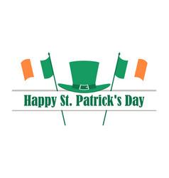 happy st patricks day flag of ireland vector image vector image