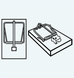 Mousetrap with cheese vector image