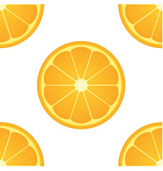 orange citrus fruit healthy vegan food seamless vector image vector image