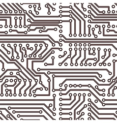 seamless circuit board pattern vector image vector image