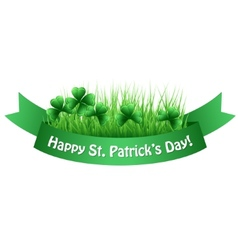 St Patricks banner vector image vector image