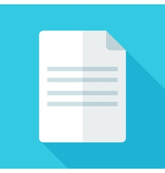 Colorful document icon in modern flat style with vector image vector image