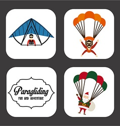 paragliding sport vector image
